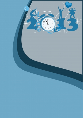 Happy new year poster background with space Stock Photo - 16631924