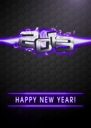 Happy new year 2013 party invitation card or poster background with space photo