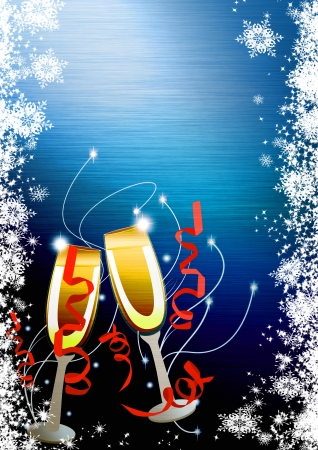 Happy new year poster background with space Stock Photo - 16703862