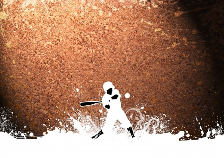 Abstract grunge baseball sport background with space photo