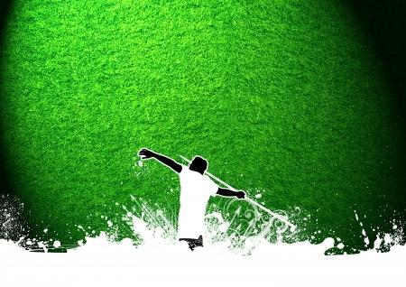 lanzamiento de jabalina: Resumen lanzar jabalina grunge fondo con el espacio