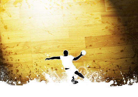 Abstract grunge Handball shot background with space photo