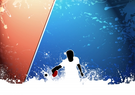 table tennis: Abstract grunge Ping pong background with space