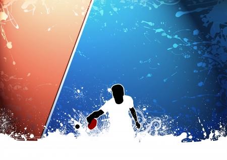 tischtennis: Abstract grunge Ping pong Hintergrund mit Platz Lizenzfreie Bilder