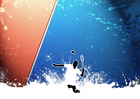 goose club: Abstract grunge color Badminton background with space