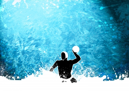 polo ball: Abstract grunge Water polo background with space