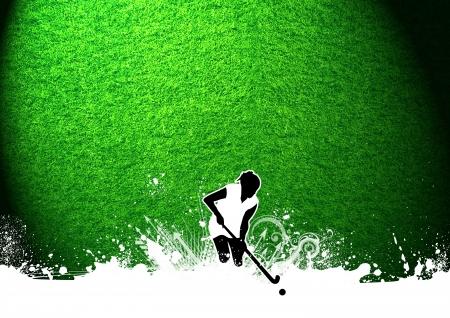 hockey sobre cesped: Abstract grunge de campo Hockey deporte fondo con el espacio
