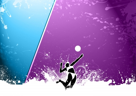 volley: Abstract grunge beach volleyball background with space Stock Photo