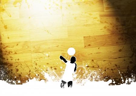 pelota de voley: Abstract grunge de color voleibol fondo con el espacio Foto de archivo