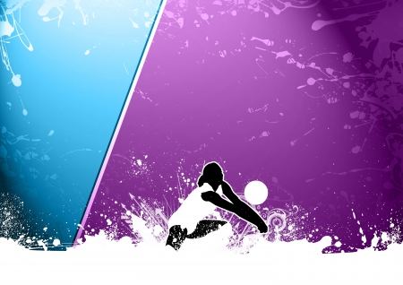beach volley: Abstract grunge color volleyball background with space