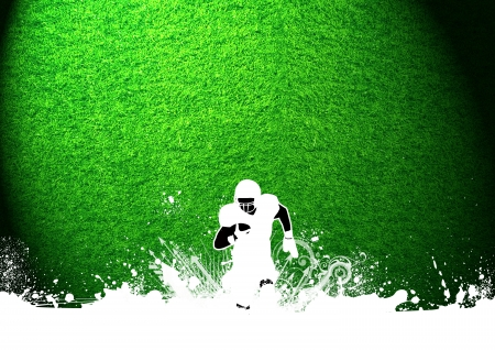quarterback: Abstract grunge american football background with space