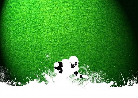 football silhouette: Abstract grunge americano sfondo di calcio con lo spazio