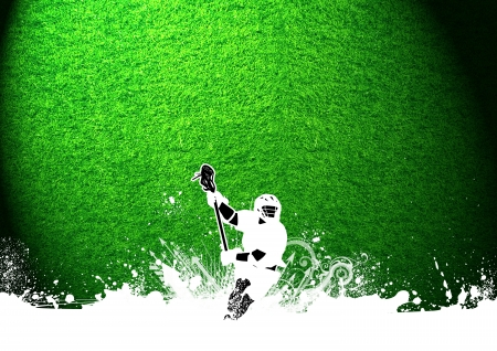 Abstract grunge color lacrosse background with space photo