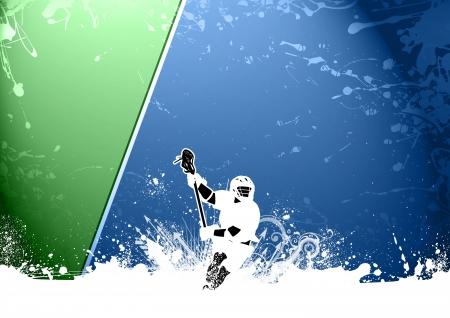 lacrosse: Abstract grunge color lacrosse background with space