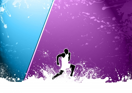 orienteering: Abstract color grunge Running background with space