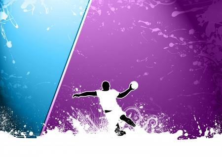 handball: Abstract grunge Handball shot background with space