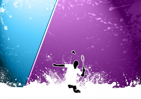 Abstract grunge color Badminton background with space photo