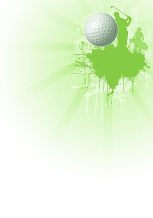 Abstract color golf poster background with space photo