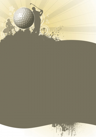 golfer: Abstract color golf poster background with space