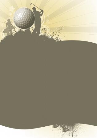 torneio: Fundo do poster de golfe cor abstrato com espa