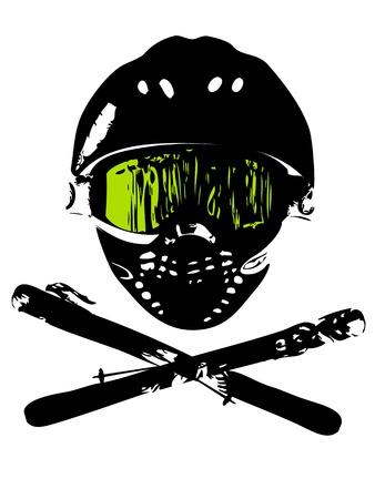 Extreme snowboard mask (logo, magazin, flyer, background) Stock Photo - 17222864