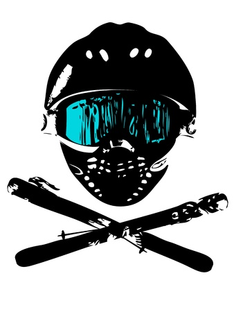 Extreme snowboard mask (logo, magazin, flyer, background) photo