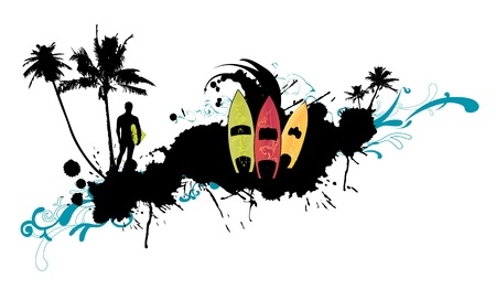 abstract surfboard picture (background, logo, leaflet, magazine...) photo