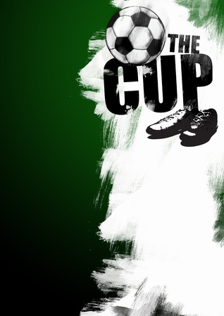 Abstract grunge soccer or football poster background with space photo