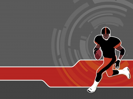 Abstract grunge american football background with space Stock Photo - 17222853