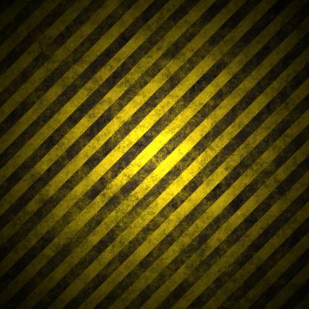 warning lights: warning sign on the asphalt enlightening (background, magazine, leaflet) Stock Photo