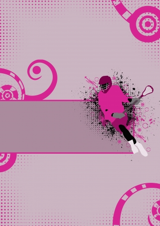 lacrosse: Abstract lacrosse sport poster background with space