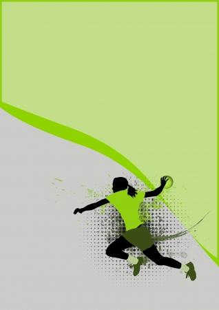 pallamano: Ragazza pallamano Sport poster sfondo con lo spazio