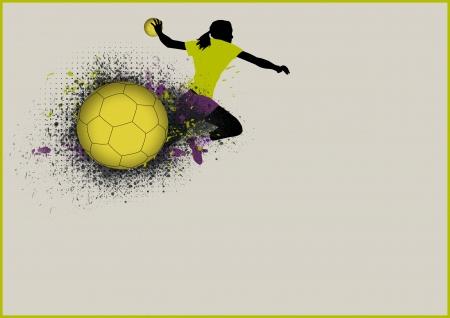 Mädchen-Handball-Sport-Plakat Hintergrund mit Raum