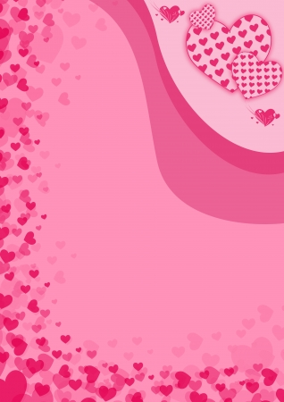 happy valentines day poster background with space Stock Photo - 17622637