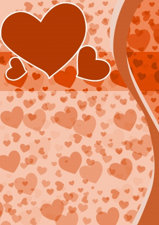 happy valentines day poster background with space Stock Photo - 17622657