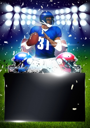 American football poster or flyer background with space Stock Photo - 17718977