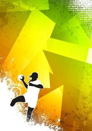 Woman Handball Plakat oder Flyer Hintergrund mit Platz Standard-Bild