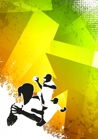 Woman Handball poster or flyer background with space photo