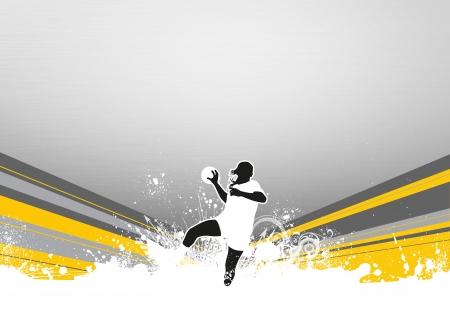 Femme Handball affiche ou dépliant de fond avec l'espace