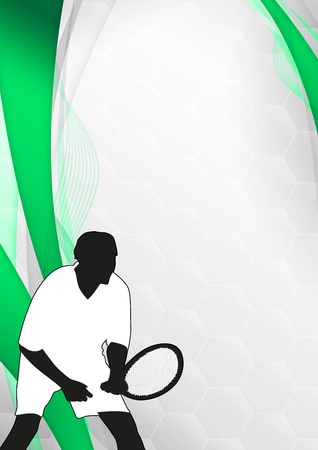 Tennis or sport business poster background with space photo