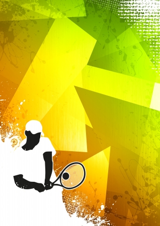 tennis: Tennis or sport business poster background with space
