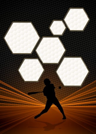 baseball stadium: Sport business poster: Baseball player background with space