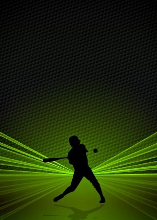 Cartel Deporte y negocio: Béisbol jugador fondo con el espacio Foto de archivo
