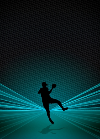 Woman Handball business poster or flyer background with space