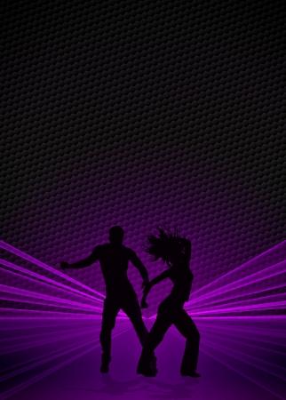 bailarin hombre: Zumba fitness o danza fondo anunciante con espacio