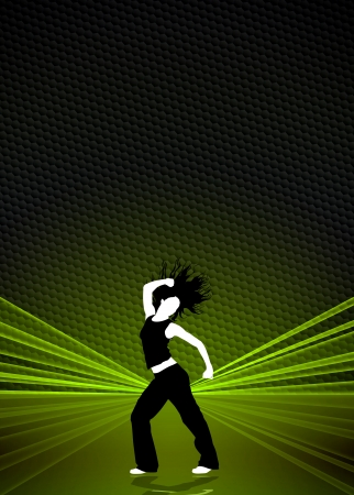 Zumba fitness or dance poster background with space photo