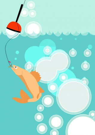 Float on the water fishing poster background with space Stock Photo - 18379984