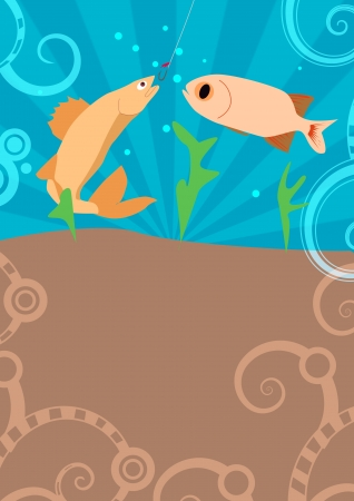 Fishing poster or flyer background with space Stock Photo - 18379965