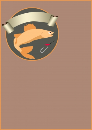 Fishing poster or flyer background with space Stock Photo - 18379952
