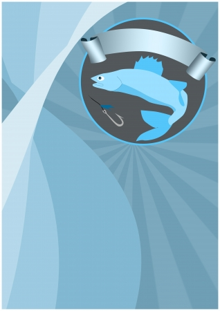Fishing poster or flyer background with space Stock Photo